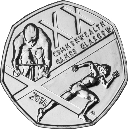 2014 commonwealth games 50p single - Royal Mint announce new coins for 2014...