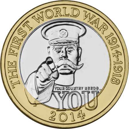 2014 wwi c2a32 single - Royal Mint announce new coins for 2014...