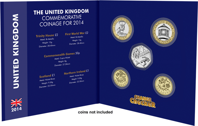 open pack 2 - Royal Mint announce new coins for 2014...