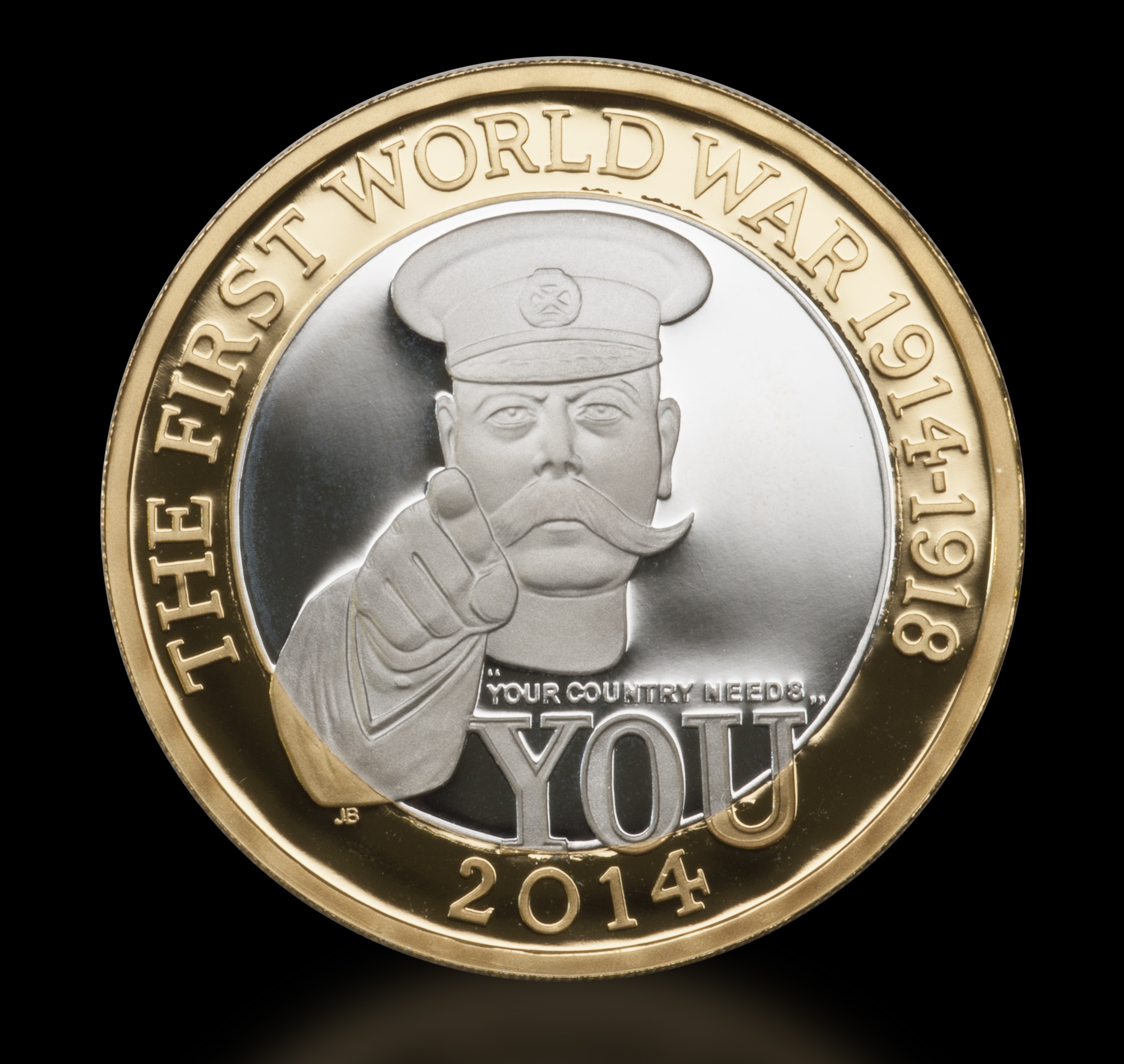 2 kitchener front on cropped - It's here! How you can own the 2014 First World War £2