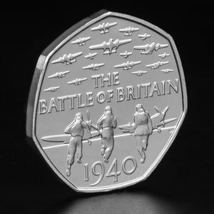 2015 uk battle of britain 50p bu coin on angle - Which new 2015 coin is your favourite? VOTE NOW...
