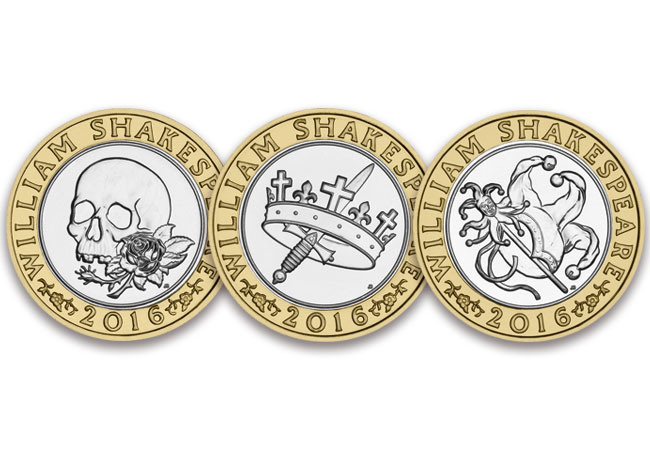 shakespeare three coins - The Shakespeare £2 coins have been released into circulation...