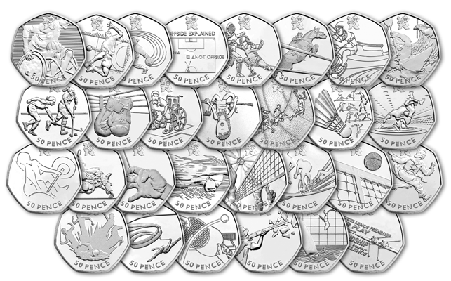 29 olympic 50p coins1231 - Everything you need to know about the UK Olympic 50p Series