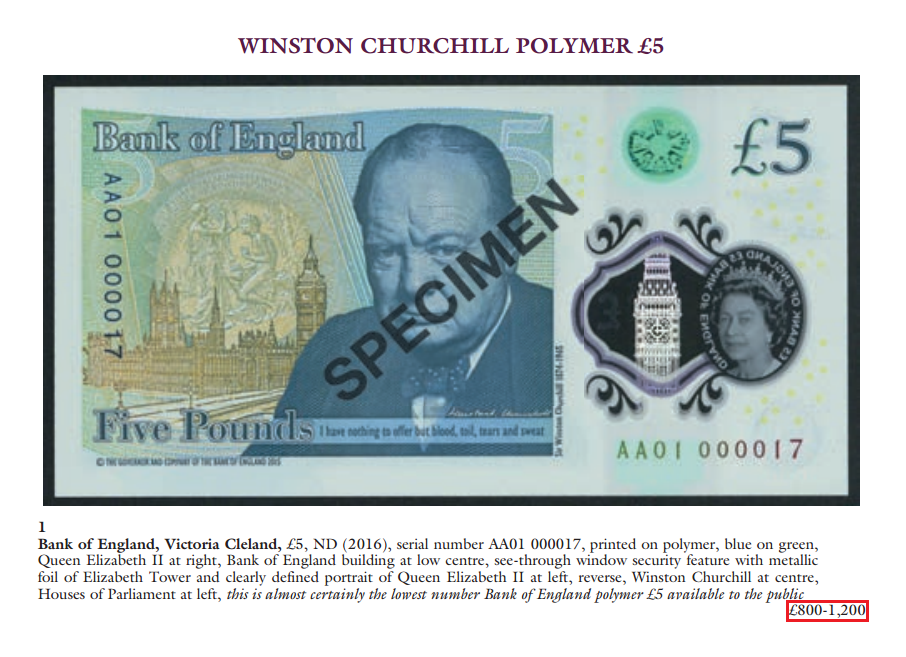 auction - Check your FIVER now – it could be worth £100+
