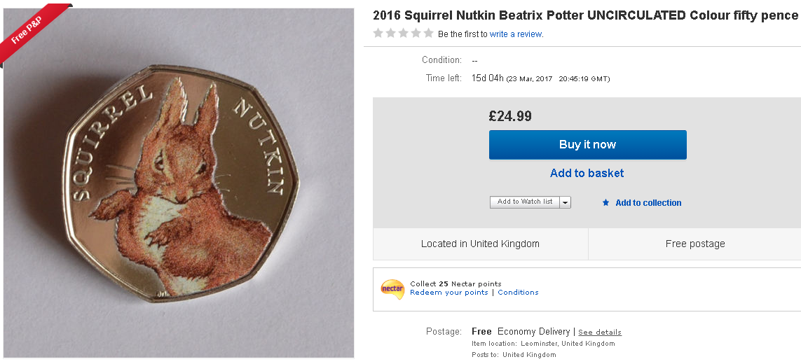 painted 50p - The truth behind the Beatrix Potter 50ps