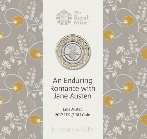 jane austen 2017 uk c2a32 bu coin in packaging uk17jabu 300x284 - Jane Austen 2017 UK £2 BU Coin in packaging - UK17JABU