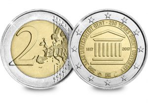 Belguim 2017 University of Ghent 2 Euro Coin Obverse Reverse 300x208 - The end of an era for Belgium's Royal Mint