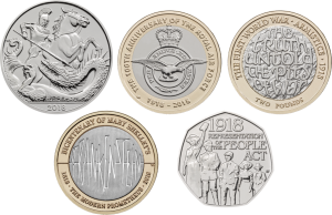 All 5 Coins REV 300x194 - First look: New Royal Mint coin designs for 2018!