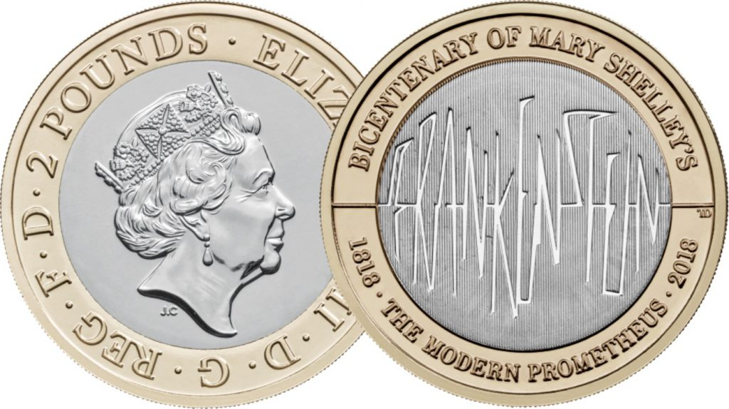 Frankenstein OB and REV 1024x575 - First look: New Royal Mint coin designs for 2018!