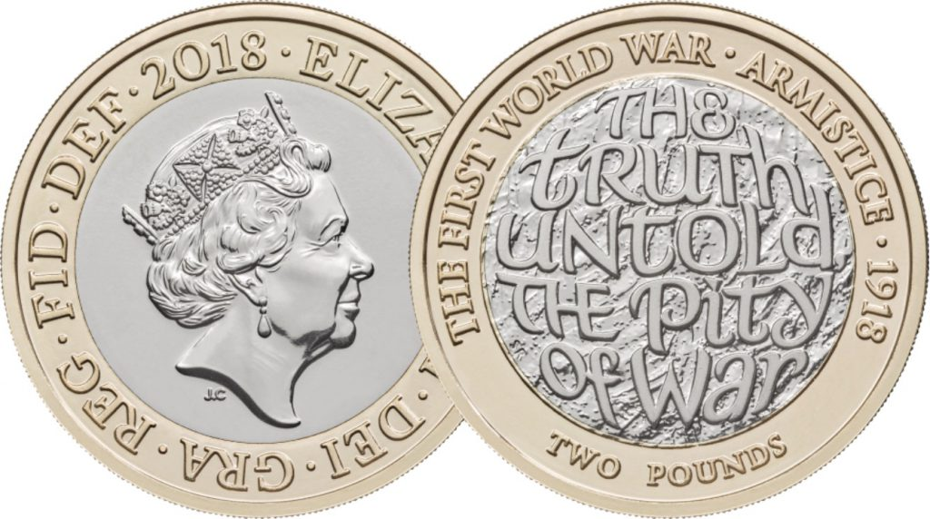 WW1 Armistace OB and REV 1024x572 - First look: New Royal Mint coin designs for 2018!